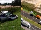 Mulher morre em gravíssimo acidente na BR-376
