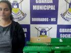 Mulher é presa pela Guarda Municipal na rodoviária de Dourados com quase 35 quilos de maconha