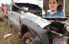 Universitário morre após carro capotar na MS-156 e despencar em barranco