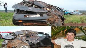 Rapaz morre depois de perder controle da direção e capotar carro na rodovia MS-162