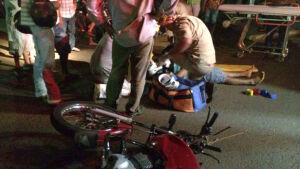 WhatsApp: leitor flagra acidente na rua Tenente Antônio João em Fátima do Sul