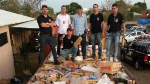 Polícia Civil, DOF e PRF incineram 37 toneladas de entorpecentes, 1.200 são de Fátima do Sul