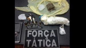 Traficante é flagrado com droga e munições na MS-276 e tem boca de fumo fechada em Deodápolis