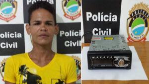 Autor de furto e receptador são presos em flagrante em Fátima do Sul