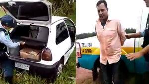 VÍDEO: Motorista é preso transportando mais de 100 quilos de maconha MS-145 em Glória de Dourados