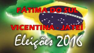 Veja aqui os locais de votação neste domingo em Jateí, Vicentina e FÁTIMA DO SUL