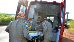 Motociclista fica ferido em queda de moto na MS-376 em FÁTIMA DO SUL