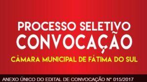 Câmara convoca candidatos aprovados no Processo Seletivo em FÁTIMA DO SUL