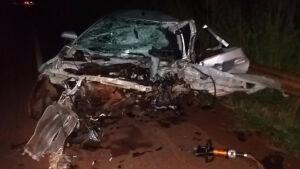 Fatimassulense de 22 anos morre e 4 policiais ficam feridos em colisão na MS-376