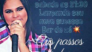Cris Passos lança seu novo sucesso sábado, 29 no Clube Ranchão de Fátima do Sul