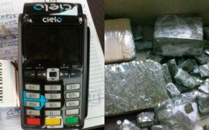 Traficante preso na Capital vendia drogas usando máquina de cartão de crédito
