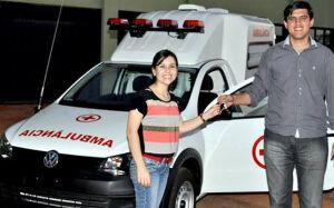 Prefeito Junior Vasconcelos viabiliza ambulância para Fátima do Sul