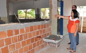 Obras da E.M. Pólo estão adiantadas e serão entregues em 30 dias em Deodápolis