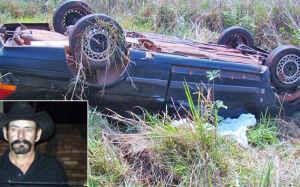 Idoso morre após carro de passeio capotar na MS-156 em Caarapó