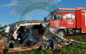 Homem morre ao colidir EcoSport frontalmente com ônibus na BR-060 em Sidrolândia