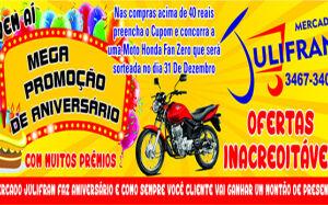Mercado Julifran prepara mega promoção de aniversário em FÁTIMA DO SUL