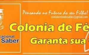 Escola Reino do Saber abre vagas para a Colônia de Férias que começa hoje em FÁTIMA DO SUL