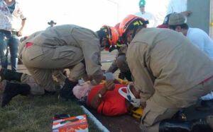 No quarto acidente do dia, motociclista fica gravemente ferido em frente ao JBS