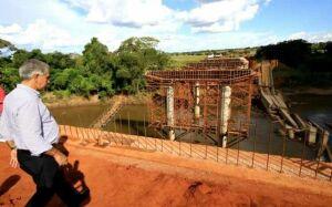Ponte do Governo do André que caiu em Guia Lopes, será entregue em 90 dias garante Reinaldo