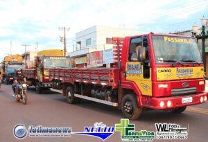 Confira as FOTOS da carreata dos caminhoneiros em Fátima do Sul
