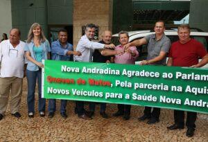 Nova Andradina recebe veículo 'Doblô' para saúde, emenda parlamentar de Onevan de Matos