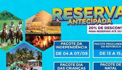 Reservas antecipadas tem desconto de 20% no Campo Belo Resort, Confira os pacotes