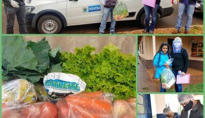 Educação entrega Kits com gênero alimentício aos estudantes da Rede Municipal de Ensino em Vicentina