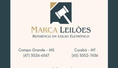 Marca Leilões informa 1º Leilão eletrônico dia 29/06 de imóvel rural localizado em Fátima do Sul