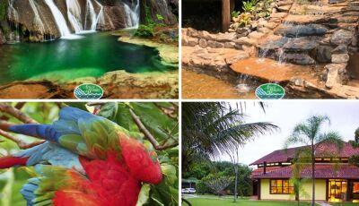 Em Bonito (MS), no Hotel Águas de Bonito as belezas naturais cercam a todos que por ele passa, VEJA