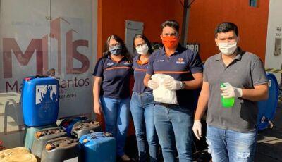 Carcará Imóveis está doando 1.000 litros de álcool 70%, corre lá e pega o seu em Fátima do Sul