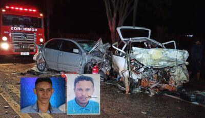 Ultrapassagem pode ter causado acidente que matou dois em Vicentina, eles moradores de Fátima do Sul