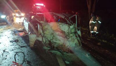 Identificadas as duas vítimas fatais do acidente em Vicentina, os dois homens são de Fátima do Sul