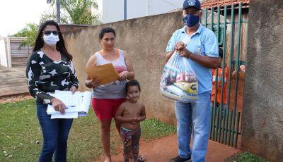 JATEÍ faz distribuição de cestas básicas as famílias dos alunos de baixa renda e em vulnerabilidade