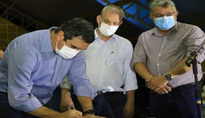 Governo anuncia reforma de hospital e assina obras de pavimentação em Nioaque
