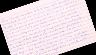Em carta, internas agradecem qualidade nas refeições e tratamento humanizado no presídio de Jateí