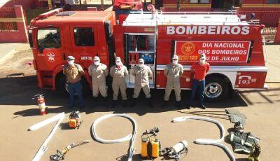 Guerreiros de Fátima do Sul fazem semana de prevenção contra incêndio, hoje é dia do BOMBEIRO