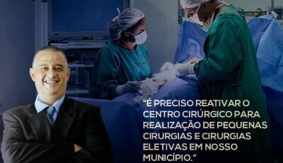 Márcio Teles pede reativação do centro cirúrgico do HMCR em Deodápolis