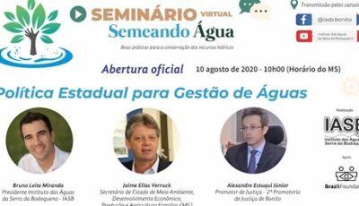 Governo apresenta política estadual de gestão de águas em seminário virtual sobre recursos hídricos