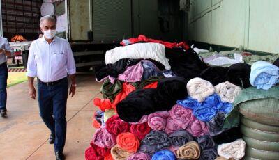 Governo do Estado distribui cobertores e máscaras para famílias carentes