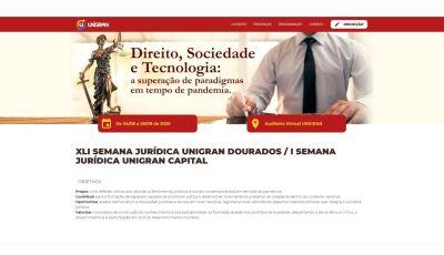UNIGRAN Dourados e Capital iniciam hoje Semana Jurídica de Direito em plataforma própria