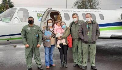 Casa Militar atende chamado de urgência e leva menina de 4 anos para exames em SP