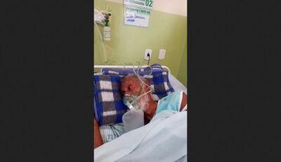 """IVINHEMA: """"Meu pai esta morrendo a mingua nesse hospital"""", desabafa filho nas redes sociais"""