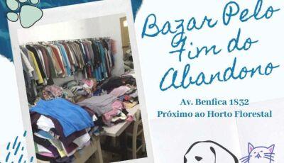 VAMOS AJUDAR E DOAR: Bazar Pelo Fim do Abandono acontecerá no sábado em Fátima do Sul