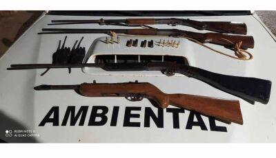 Caçadores são presos com armas e munições em Rio Brilhante