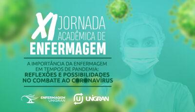 XI Jornada Acadêmica de Enfermagem aborda a importância do profissional no combate ao Coronavírus