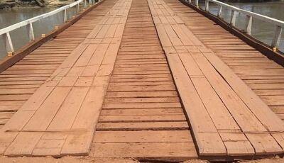 Duas pontes de madeira serão substituídas por estruturas de concreto entre Dourados e Deodápolis
