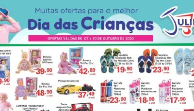 Dia das Crianças e Ofertas da Semana é no Mercado Julifran em Fátima do Sul