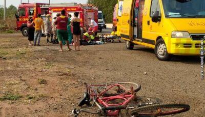 Ciclista morre atropelado por caminhão na BR-163 em Campo GRande