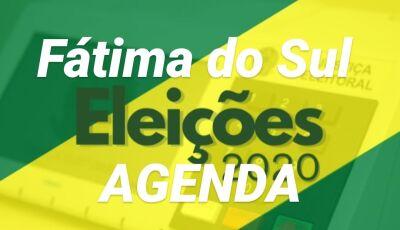 Confira a agenda dos candidatos deste sábado em Fátima do Sul