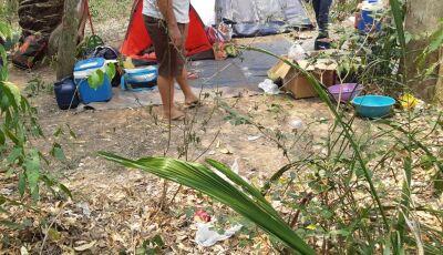 Pescador é multado, resiste em sair de acampamento e PMA teve que chamar reforço